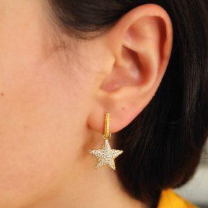 yıldız küpe